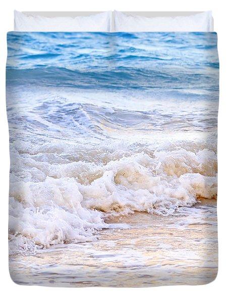 Waves Breaking On Tropical Shore Duvet Cover by Elena Elisseeva