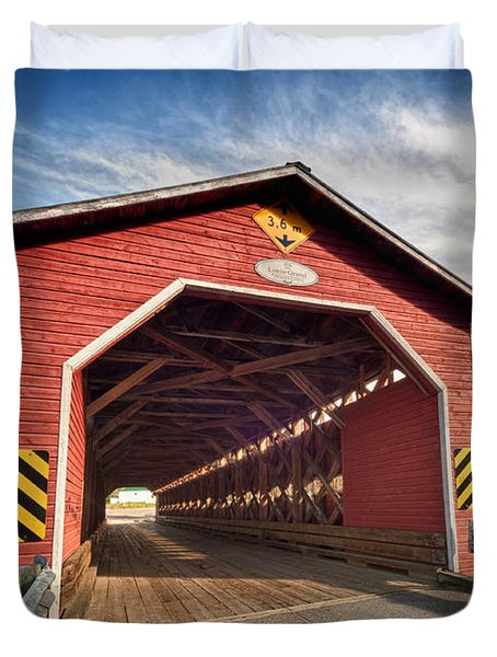 Wooden Covered Bridge  Duvet Cover by Ulrich Schade