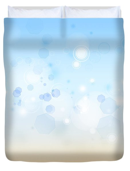 Abstract background Duvet Cover by Les Cunliffe