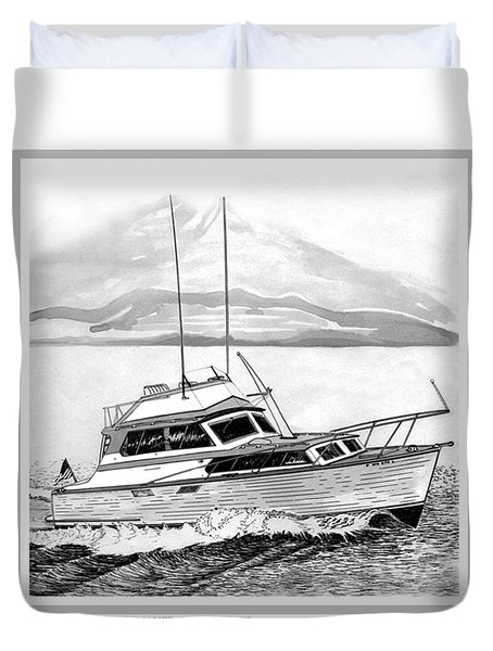 32 foot Pacemaker Sportsfisher Duvet Cover by Jack Pumphrey