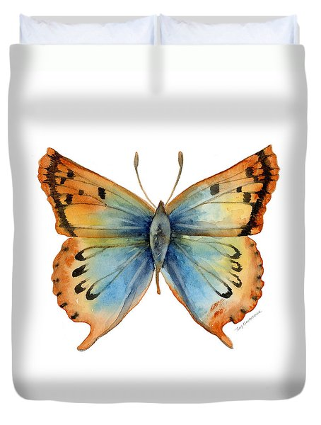 33 Opal Copper Butterfly Duvet Cover by Amy Kirkpatrick