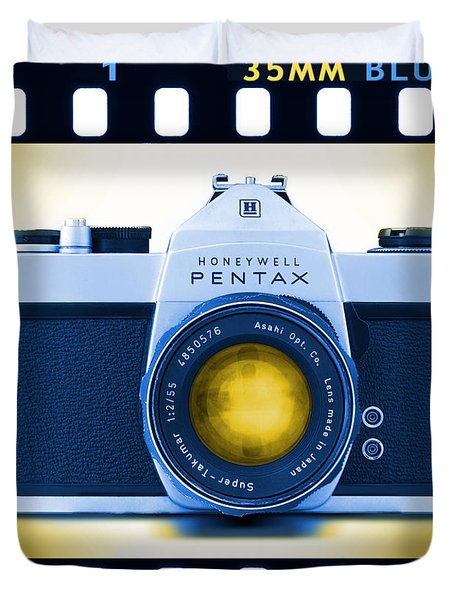 35mm BLUES Pentax Spotmatic Duvet Cover by Mike McGlothlen