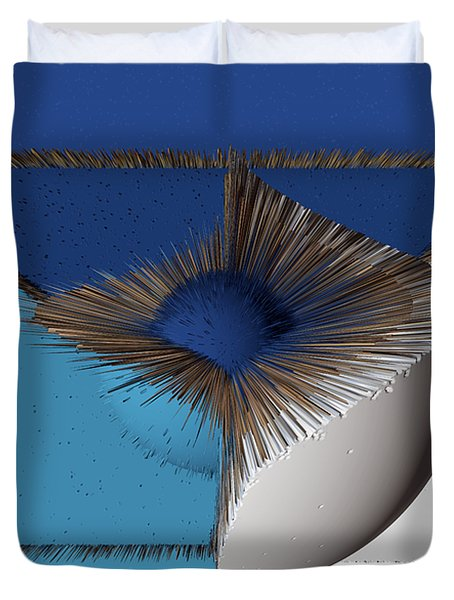 3d Abstract 19 Duvet Cover by Angelina Vick
