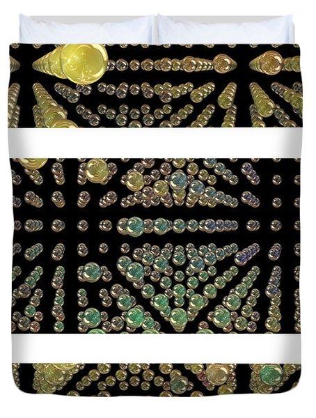 3d Spheres Duvet Cover by Susan Leggett