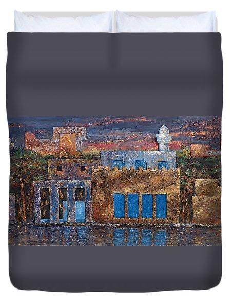 3d Village Duvet Cover by Amani Al Hajeri