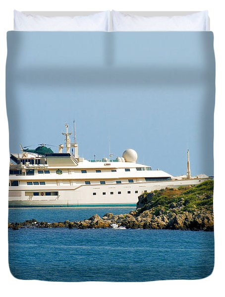 Antibes - Superyachts of Billionaires Duvet Cover by Christine Till