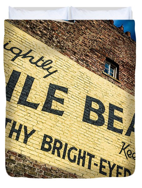 Bile Beans Advertising Duvet Cover by Bailey Cooper