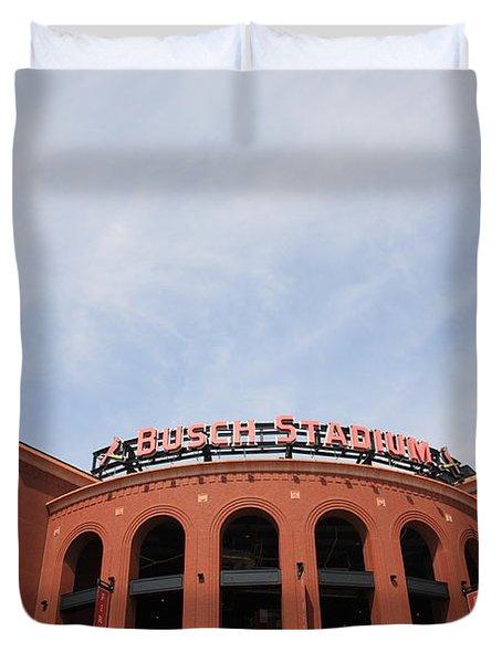 Busch Stadium - St. Louis Cardinals Duvet Cover by Frank Romeo