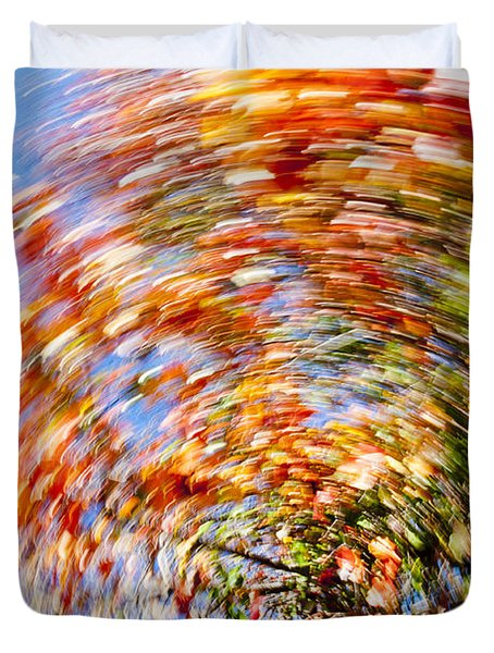 fall abstract Duvet Cover by Steven Ralser