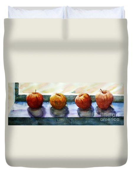 4 Friends Duvet Cover by Marisa Gabetta
