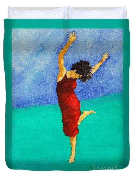 Jump Of Joy Duvet Cover by Dagmar Helbig