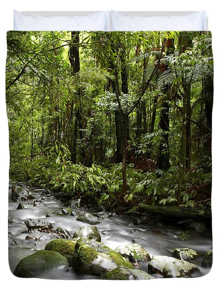 Jungle Stream Duvet Cover by Les Cunliffe