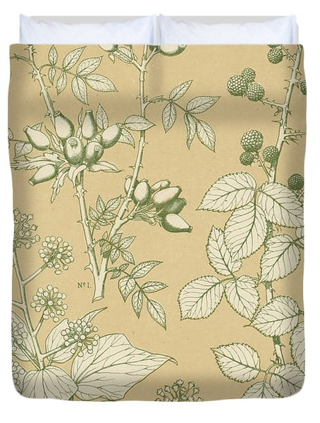 Leaves From Nature Duvet Cover by English School