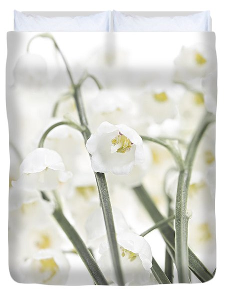 Lily-of-the-valley Flowers  Duvet Cover by Elena Elisseeva