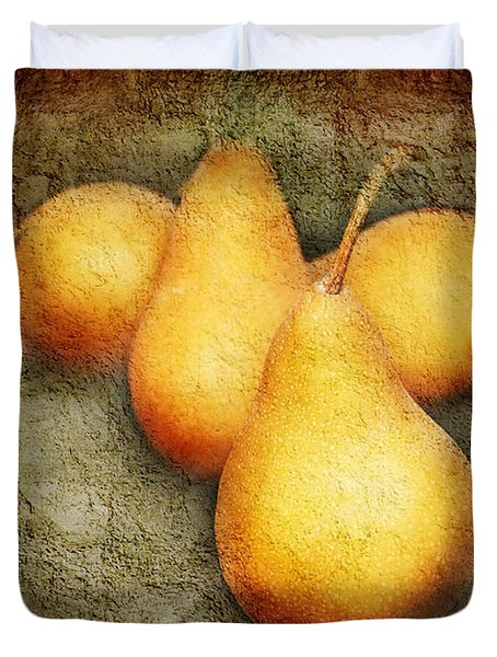 4 Little Pears Are We Duvet Cover by Andee Design