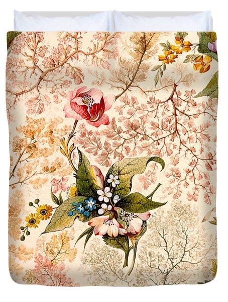 Marble End Paper Duvet Cover by William Kilburn