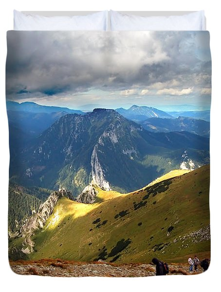 Mountains Stormy Landscape Duvet Cover by Michal Bednarek