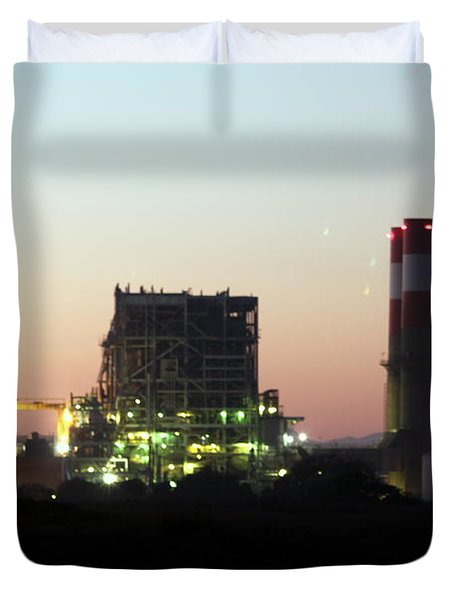 Power Station Duvet Cover by Henrik Lehnerer