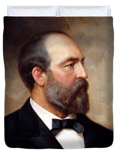 President James Garfield Duvet Cover by War Is Hell Store
