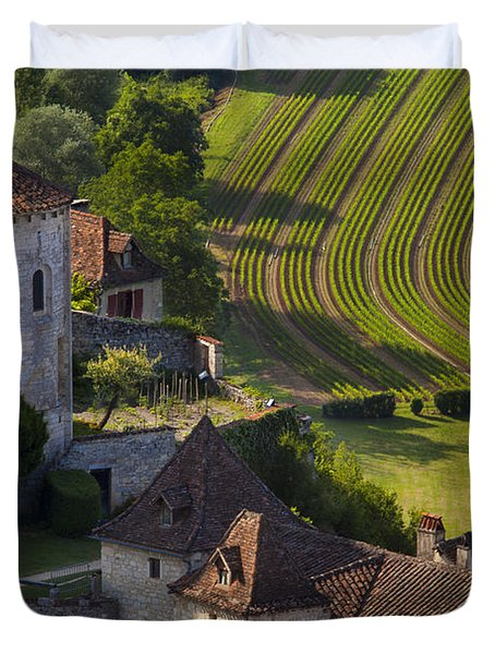 Saint Cirq Lapopie Duvet Cover by Brian Jannsen