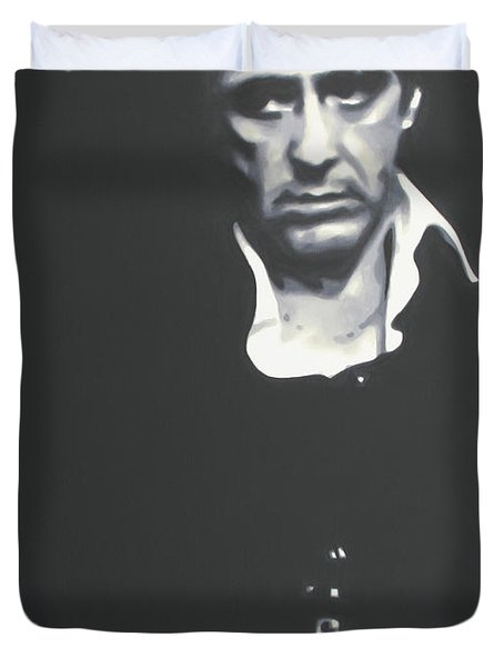 Scarface 2013 Duvet Cover by Luis Ludzska