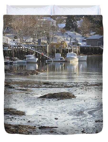 South Bristol On The Coast Of Maine Duvet Cover by Keith Webber Jr