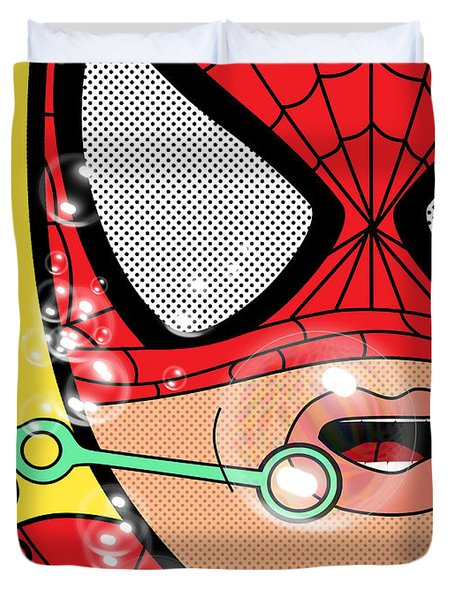 Spiderman  Duvet Cover by Mark Ashkenazi