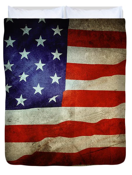 American flag Duvet Cover by Les Cunliffe