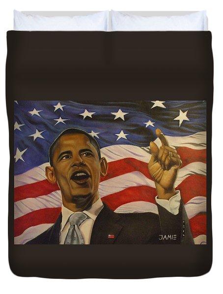 44th President Of Change Duvet Cover by Jamie Preston