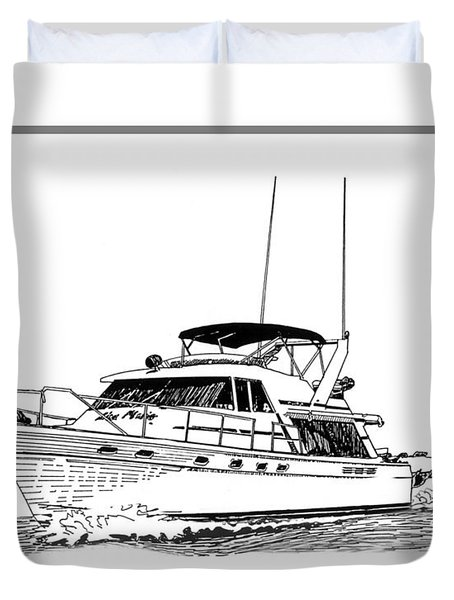 45 foot Bayliner Motoryacht Duvet Cover by Jack Pumphrey