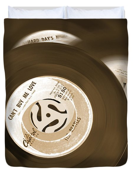 45 Rpm Records Duvet Cover by Mike McGlothlen