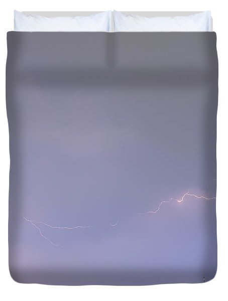 47 Street Lightning Storm Light Trails View Duvet Cover by James BO  Insogna