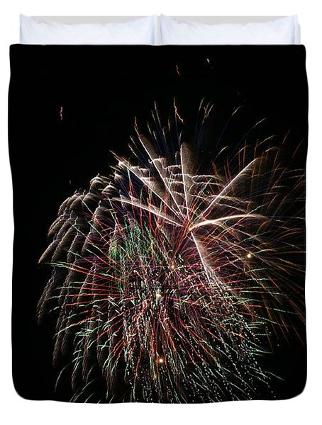 4th of July Fireworks Duvet Cover by Alan Hutchins