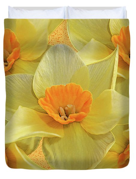 5 Daffy's On Parade Duvet Cover by Andee Design