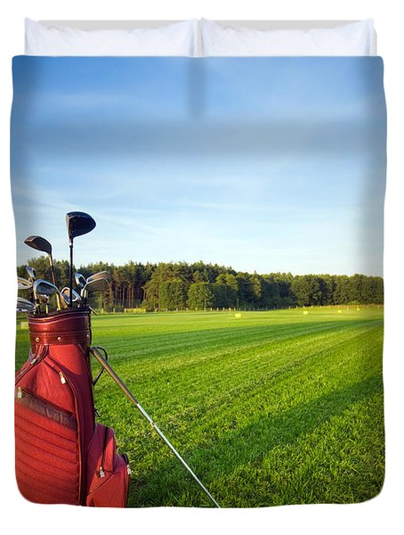 Golf Gear Duvet Cover by Michal Bednarek