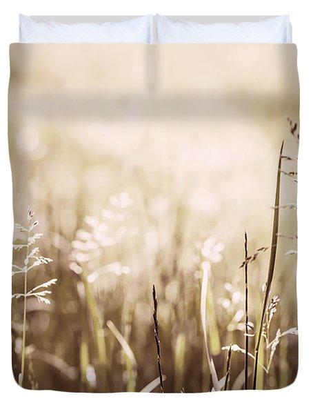 June grass flowering Duvet Cover by Elena Elisseeva