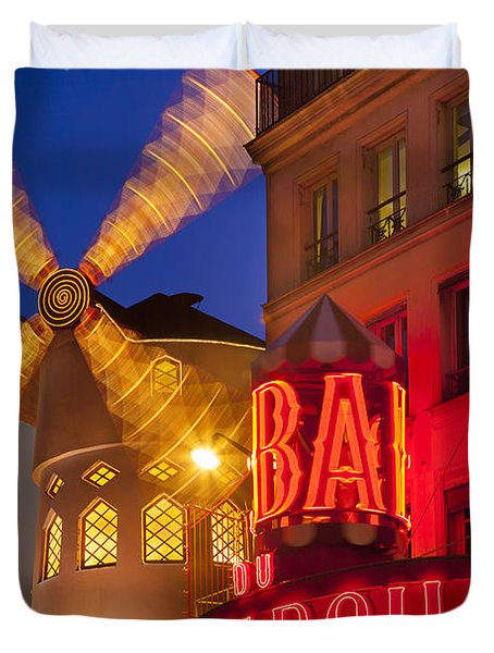 Moulin Rouge Duvet Cover by Brian Jannsen