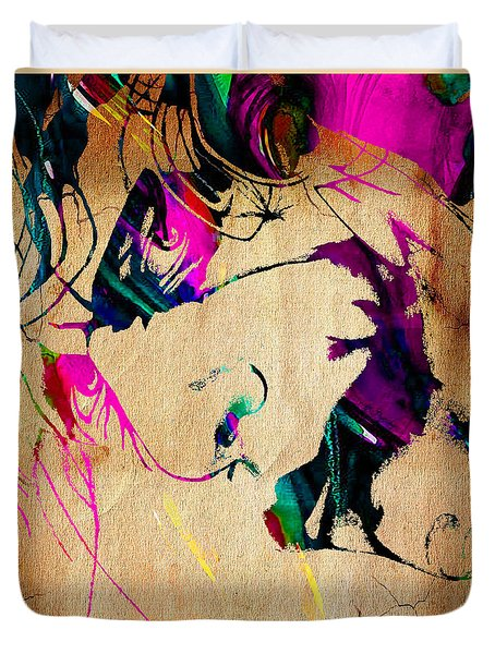 The Joker Heath Ledger Collection Duvet Cover by Marvin Blaine