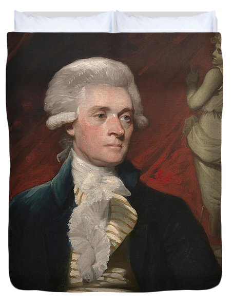Thomas Jefferson Duvet Cover by War Is Hell Store
