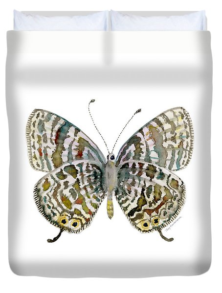 51 Lang's Short-tailed Blue Butterfly Duvet Cover by Amy Kirkpatrick