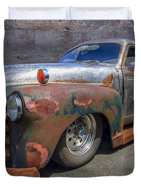 52 Chevy Truck Duvet Cover by Debra and Dave Vanderlaan