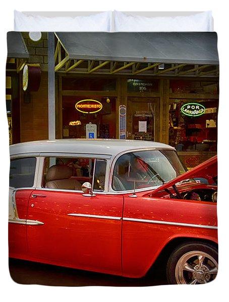 55 Chevy Belair Duvet Cover by Saija  Lehtonen