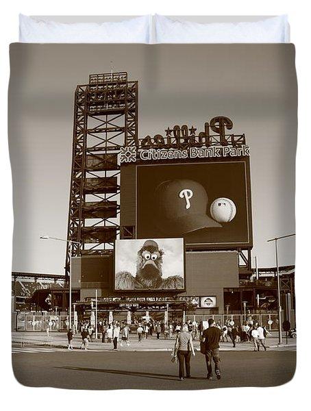 Citizens Bank Park - Philadelphia Phillies Duvet Cover by Frank Romeo
