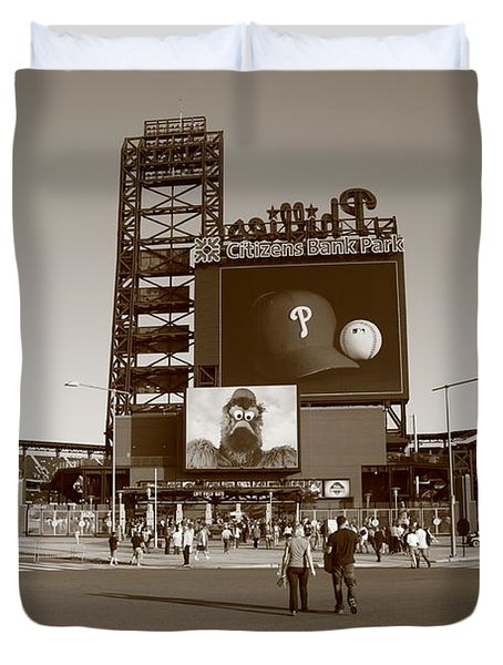 Citizens Bank Park - Philadelphia Phillies Duvet Cover by Frank Romeo