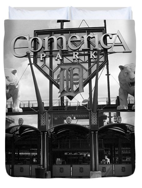 Comerica Park - Detroit Tigers Duvet Cover by Frank Romeo