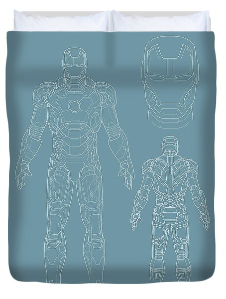 Iron Man Duvet Cover by Unknow