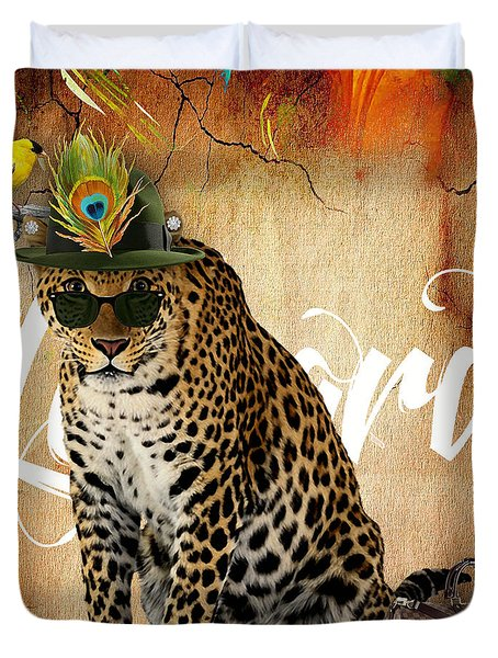 Leopard Collection Duvet Cover by Marvin Blaine