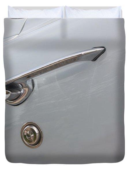 61 Corvette-grey-door Handle-9268 Duvet Cover by Gary Gingrich Galleries