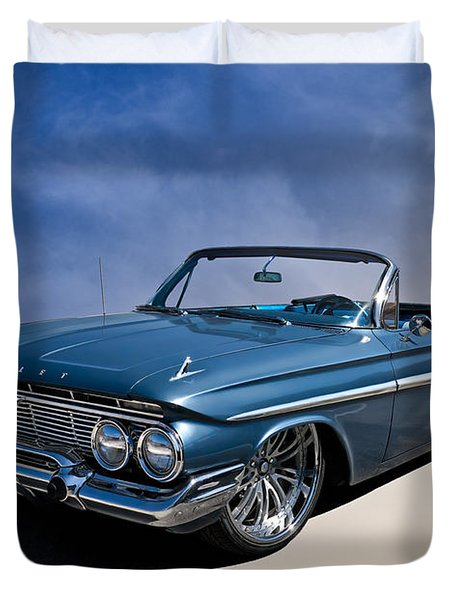 '61 Impala Duvet Cover by Douglas Pittman