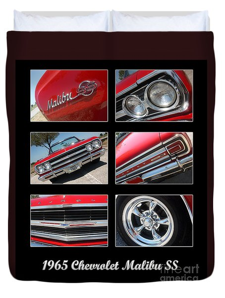 65 Malibu Ss Poster Duvet Cover by Gary Gingrich Galleries
